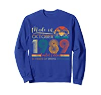 Classic October 1989 Shirt 31st Birthday Gifts 31 Years Old T-shirt Sweatshirt Royal Blue