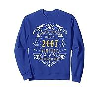 13 Years Old Made In 2007 13th Birthday, Anniversary Gift Shirts Sweatshirt Royal Blue