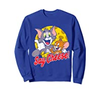 Tom And Jerry Say Cheese Portrait Shirts Sweatshirt Royal Blue