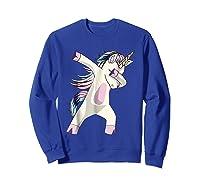 Dabbing Unicorn For Daughter Son Granddaughter Daddy Shirts Sweatshirt Royal Blue