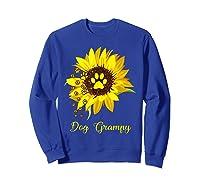 Dog Grampy Sunflower Gift Love Dogs And Flowers T-shirt Sweatshirt Royal Blue
