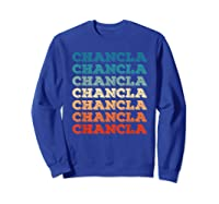 Funny Mexican Mom Gift Chancla T-shirt Sweatshirt Royal Blue