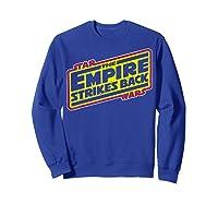 Star Wars The Empire Strikes Back Vintage Logo T-shirt Sweatshirt Royal Blue