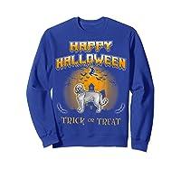 Cockapoo Dog Happy Halloween Shirts Sweatshirt Royal Blue