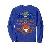 Texas Longhorns Living Roots Apparel Shirts Sweatshirt Royal Blue