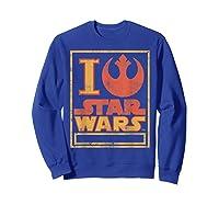 S Rebel Alliance Love Shirts Sweatshirt Royal Blue