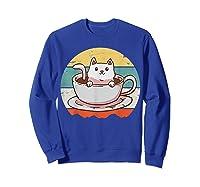 Coffee Cats Retro Vintage Gift T-shirt Sweatshirt Royal Blue