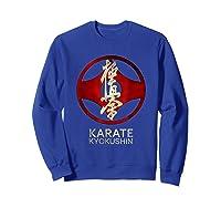 Karate Kyokushin T-shirt Sweatshirt Royal Blue