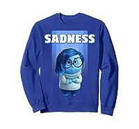 Pixar Inside Out Sadness Portrait Shirts Sweatshirt Royal Blue