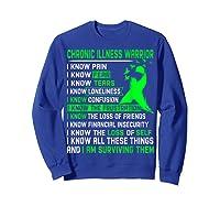 Chronic Illness Warrior For Shirts Sweatshirt Royal Blue
