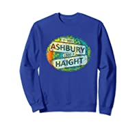 60s 70s Retro Flower Power Haight Ashbury Street Signs 1 Shirts Sweatshirt Royal Blue