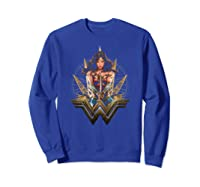 Wonder Woman Movie Wonder Blades T-shirt Sweatshirt Royal Blue