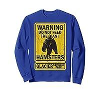 Funny Glacier National Park Grizzly Brown Bear Souvenir Gift Shirts Sweatshirt Royal Blue