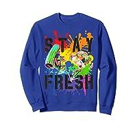Splatoon Pride Stay Fresh Rainbow Paint Splat Shirts Sweatshirt Royal Blue