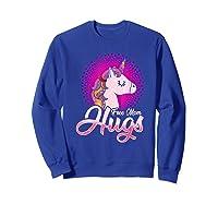 Free Mom Hugs Rainbow Lgbt Pride Unicorn T-shirt Gift Sweatshirt Royal Blue