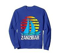 Zanzibar Sailing T-shirt Sunset Sailboat Vacation Gift Sweatshirt Royal Blue