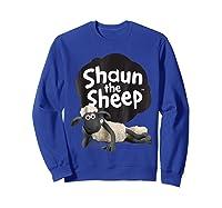 Shaun The Sheep Alt Logo With Shaun Shirts Sweatshirt Royal Blue