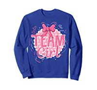 Team Girl Gender Reveal Party Pregancy T-shirt Sweatshirt Royal Blue
