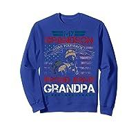 My Grandson Has Your Back Proud Army Grandpa Gift Shirts Sweatshirt Royal Blue