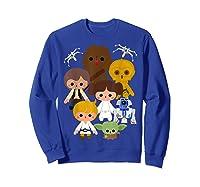 S Cute Kawaii Style Heroes Graphic C1 Shirts Sweatshirt Royal Blue