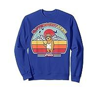 Sloth Hockey Team Shirt. Retro Style T-shirt Sweatshirt Royal Blue