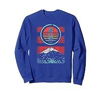 Bushido Kanji Japan Samurai Spirit Retro 80s Style Gift Shirts Sweatshirt Royal Blue