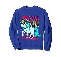 Halloween Unicorn Pride Colors Shirts Sweatshirt Royal Blue