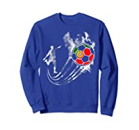 Portugal Soccer Team T-shirt For Fans And Players Sweatshirt Royal Blue