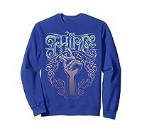 Addams Family Thing Artsy Gradient Sketch Shirts Sweatshirt Royal Blue