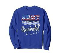 Army National Guard Grandmother Of Hero Military Family Shirts Sweatshirt Royal Blue