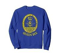 Queen Bee Vintage Beekeeper Mom Mother's Day Wife Gift Shirts Sweatshirt Royal Blue