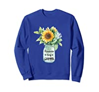 Happiness Is Being A Gramma Gift For Grandma Shirts Sweatshirt Royal Blue