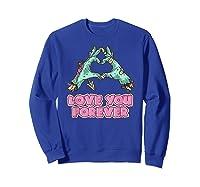 Love You Forever Zombie Heart T-shirt Sweatshirt Royal Blue