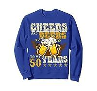 Funny Beer Drinking 1969 T Shirt 50th Birthday Gifts Sweatshirt Royal Blue