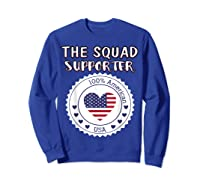 Proud Supporter Of Squad Aoc Pressley Omar Tlaib Shirts Sweatshirt Royal Blue