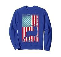American Flag Deer Hunter, Patriotic Gift Idea For T-shirt Sweatshirt Royal Blue
