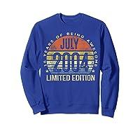 July 2004 Limited Edition 16th Birthday 16 Year Old Gift Shirts Sweatshirt Royal Blue
