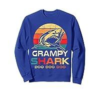 Grampy Shark Doo Doo Doo Fathers Day Gift Shirts Sweatshirt Royal Blue