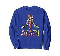 Atari Montage Logo Arms Shirts Sweatshirt Royal Blue