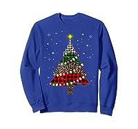 Christmas Tree Leopard Print Buffalo Plaid Merry Xmas Gift Shirts Sweatshirt Royal Blue