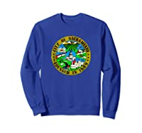 Sacrato California City Seal I Love Sacrato Pride Shirts Sweatshirt Royal Blue
