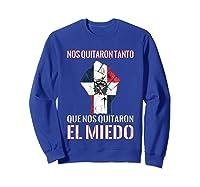 Dominican Republic Flag Fist Dominican Election 2020 Protest T-shirt Sweatshirt Royal Blue