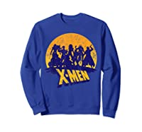 Marvel X- Logo And Mutants Classic T-shirt Sweatshirt Royal Blue