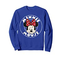 Circle Minnie Shirts Sweatshirt Royal Blue