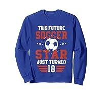 10th Birthday Soccer Birthday Boy Shirts Sweatshirt Royal Blue