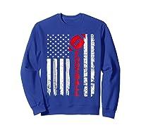 Football Shirt: Usa American Flag Sport Team Fan T-shirt Sweatshirt Royal Blue
