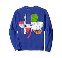Irish Dominican Flag Ireland Shamrock St Patricks Day Shirts Sweatshirt Royal Blue