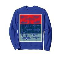 Aneisha Vintage Airplane Gift For Pilot Aviation Students Shirts Sweatshirt Royal Blue