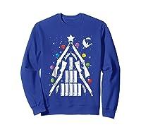 Shotgun Christmas Tree For Duck Hunters Shirts Sweatshirt Royal Blue