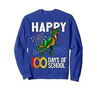 100 Days Of School Dinosaur T Rex Pencil Backpack Gift Shirts Sweatshirt Royal Blue